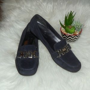 NEW Cole Haan Navy Blue Suede Loafers Size 8.5 AA